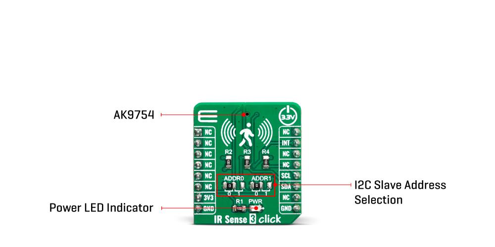 Click Boards SensorsIR Sense 3 Click