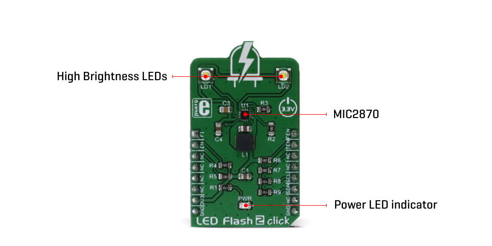 Shop Click BoardsDisplay & LEDLED Flash 2 click
