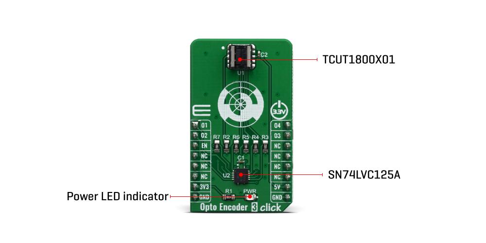Click Boards Sensors Opto Encoder 3 Click