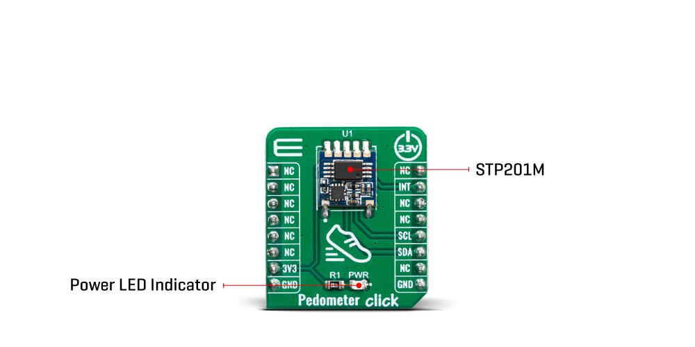 Click Boards Sensors Pedometer Click