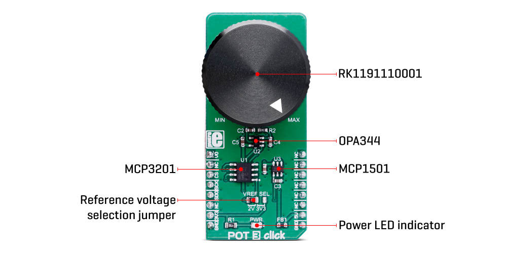 Shop Click Boards Mixed Signal POT 3 Click