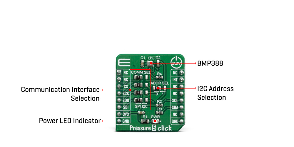 Mikroe Click Boards Sensors Pressure 5 click