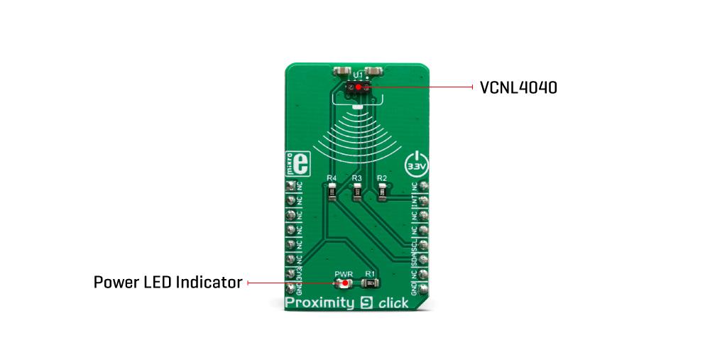 Mikroe Click Boards Sensors Proximity 9 Click