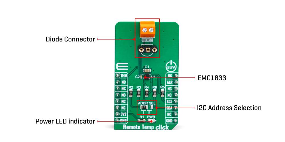 Click Boards Sensors Remote Temp Click