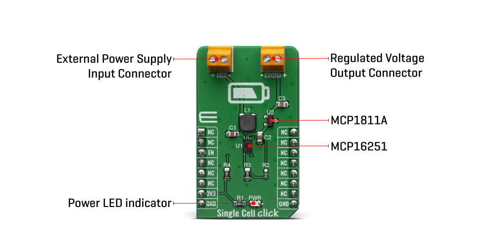 Shop Click Boards Power Management Linear Single Cell Click