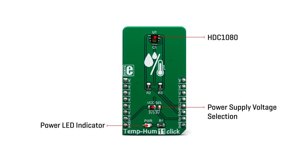 Mikroe Click Boards Sensors Temp and Hum 11 Click