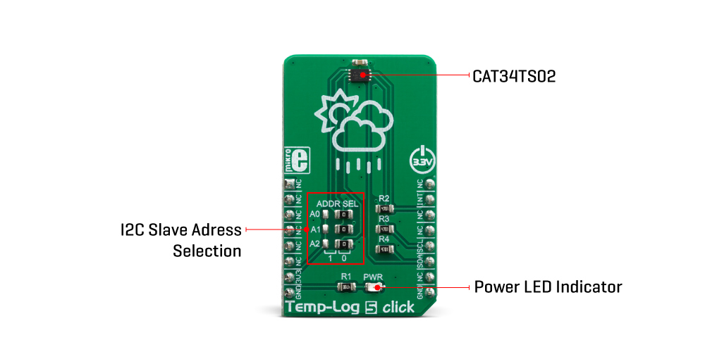 Mikroe Sensors Temp-Log 5 Click