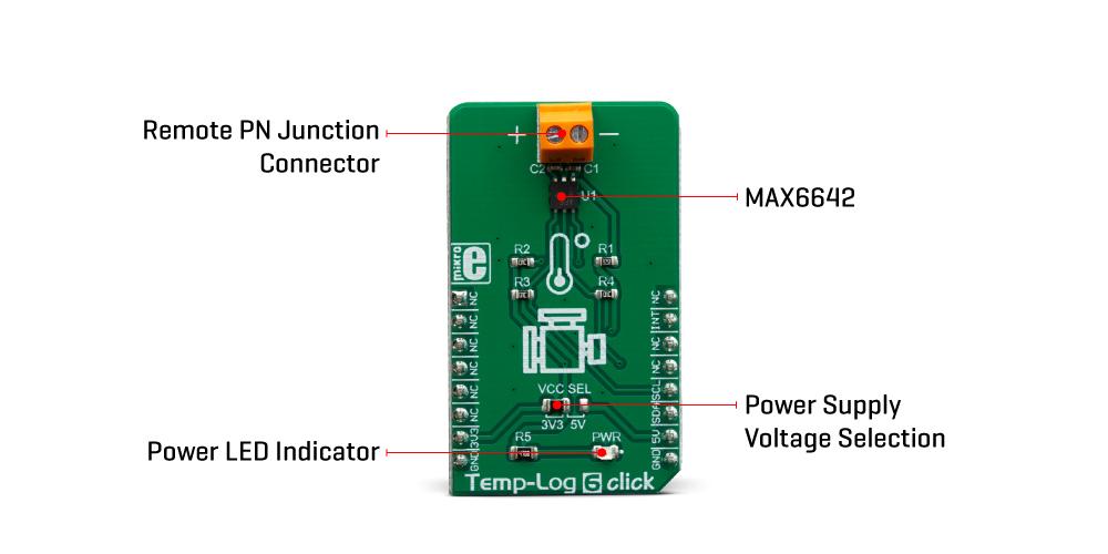 Mikroe Sensors Temp-Log 6 Click