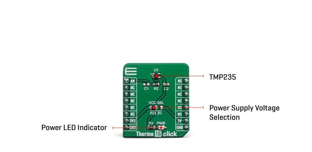 Click Boards Sensors Thermo 16 Click