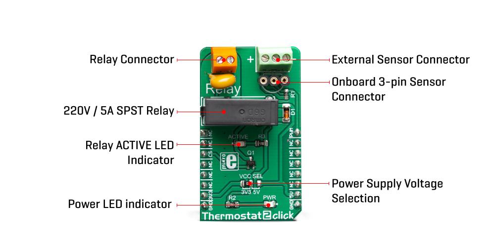 Sensors Thermostat 2 Click