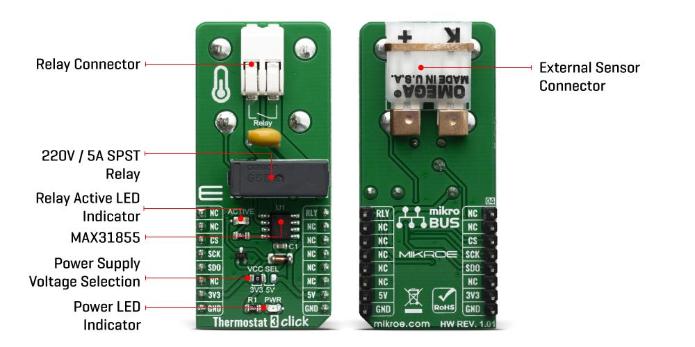 Click Boards Sensors Thermostat 3 Click
