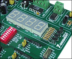 Easy8051A 7-segment LED displays