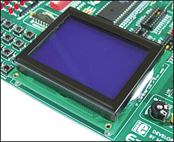 Easy8051A GLCD displays
