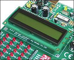 Easy8051A LCD displays