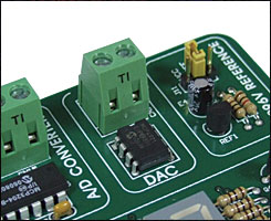 Easy8051A 12-bit D/A converter MCP4921